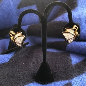 Nolan Miller butterfly crystal earing
